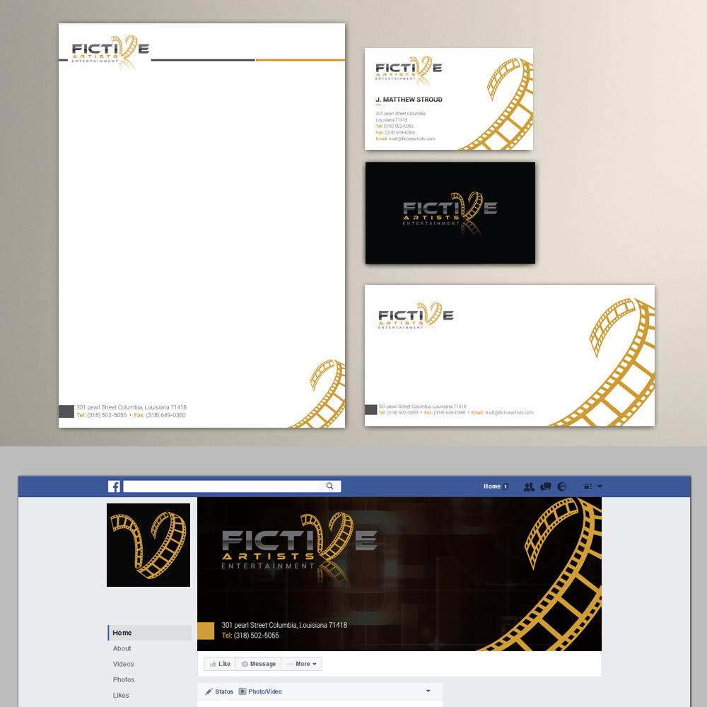 Fictive Artists Entertainment logo design