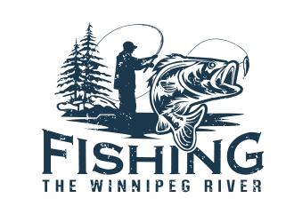 Fishing the Winnipeg River logo design