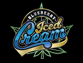 Blueberry Ice Cream logo design