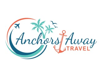 Anchors Away Travel logo design