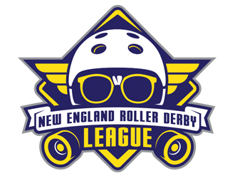 New England Roller Derby League logo design