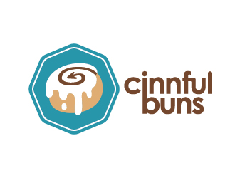 Cinnful Buns logo design