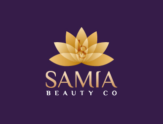 J Samia Beauty Co. logo design