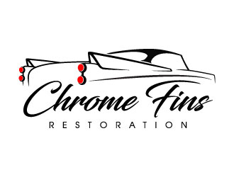 Chrome Fins Restoration logo design