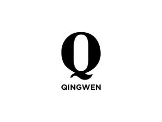 English name use letter Q(capitals or lower-case),Chinese name is Qingwen logo design
