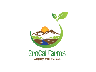 GroCal Farms logo design