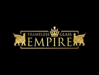 FRAMELESS GLASS EMPIRE logo design