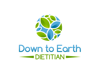 Down to Earth Dietitian logo design