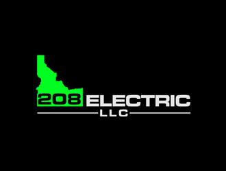 208 Electric LLC logo design