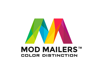 Mod Mailers  (brand name)  ; Color Distinction  (tag line) logo design
