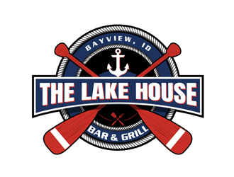 The Lake House Bar & Grill logo design