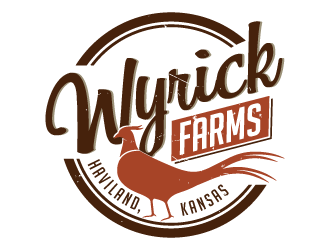 Wyrick Farms logo design