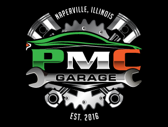 PMC Garage logo design