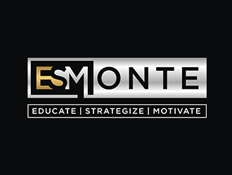 ESMONTE Educate | Strategize | Motivate logo design