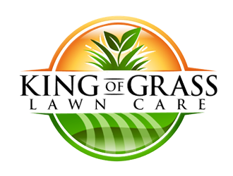 King of Grass Lawn Care logo design