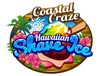 Coastal Craze Hawaiian Shave Ice logo design