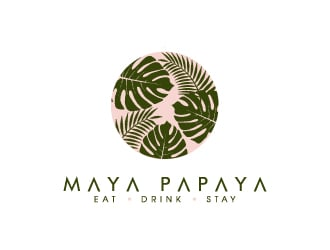 Maya Papaya logo design