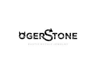 Oger Stone - Rustic Mythic Jewelry logo design