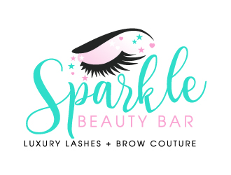 Sparkle Beauty Bar logo design