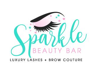 5af0fcb5de0 Sparkle Beauty Bar logo design - 48HoursLogo.com