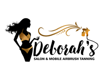 Deborahs Salon & Mobile Airbrush Tanning logo design