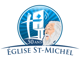Église St-Michel (Church St-Michel) logo design