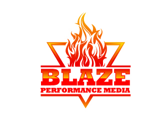Blaze Performance Media logo design