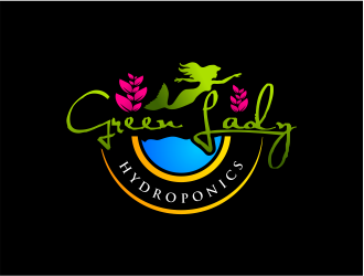 Green Lady Hydroponics logo design