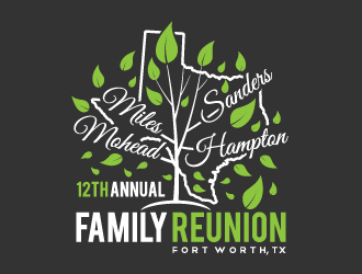 12th Annual Mohead - Miles - Sanders - Hampton Family Reunion logo design