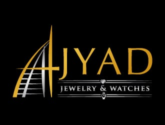 Ajyad jewelry & watches logo design