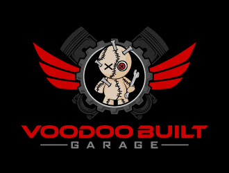 Voodoo Built Garage logo design