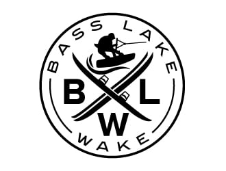 Bass Lake Wake logo design