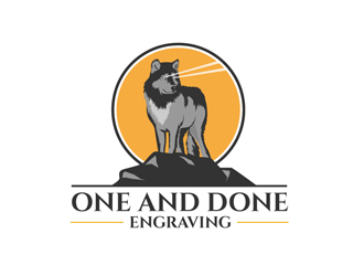 One and Done Engraving logo design