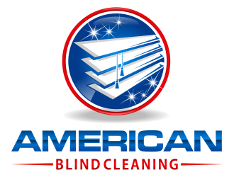 American Blind Cleaning logo design