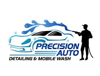 Precision Auto Detailing & Mobile Wash logo design winner