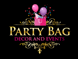 Party Bag Decor and Events logo design