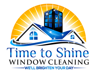 Time to Shine Window Cleaning logo design