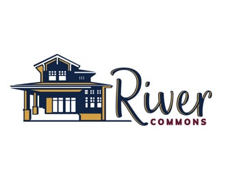River Commons logo design