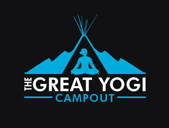 The Great Yogi Campout logo design