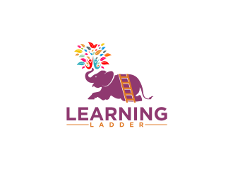 ladder of learning logo design
