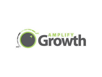 Amp up the growth logo design