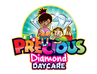Precious Diamond Daycare logo design