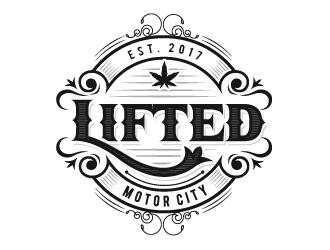 Lifted - Motor City , Lifted Edibles,  Lifted Clear - Motor City logo design