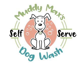 Muddy Maxs Dog Wash logo design