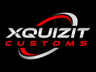 XQUIZIT CUSTOMS logo design