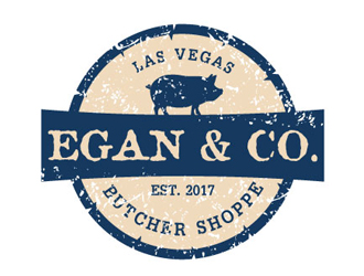 Egan & Co. BUTCHER SHOPPE Est. 2017 Las Vegas logo design