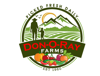Don O Ray Farms logo design