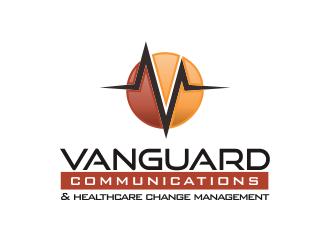 Vanguard Communications logo design