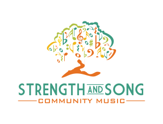 Strength and Song Community Music logo design