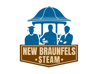 New Braunfels Steam logo design